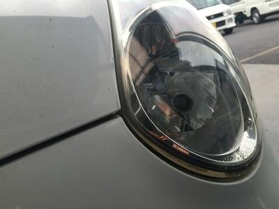 SUBARU R1 ヘッドライト磨き
