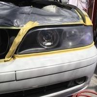 BMWヘッドライトコーテイングのサムネイル